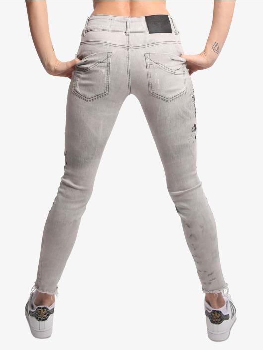 Yakuza Skinny Jeans Sweeties bialy