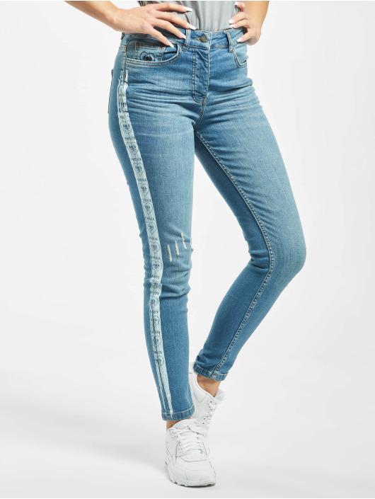 Yakuza Skinny Jeans Paint blau