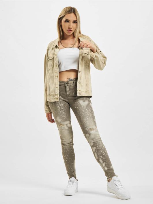 Yakuza Skinny Jeans Lepaers grau