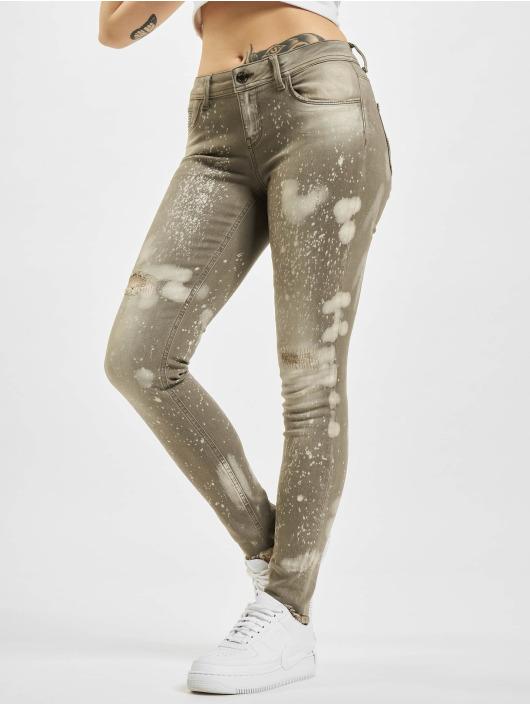 Yakuza Skinny Jeans Lepaers szary