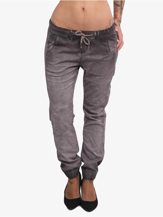 Yakuza Slim Fit Jeans Garage šedá