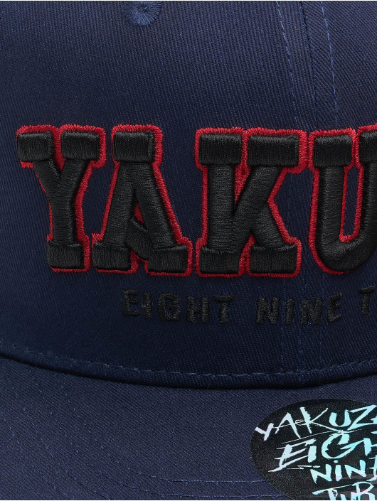 Yakuza Snapback Caps 893 College blå