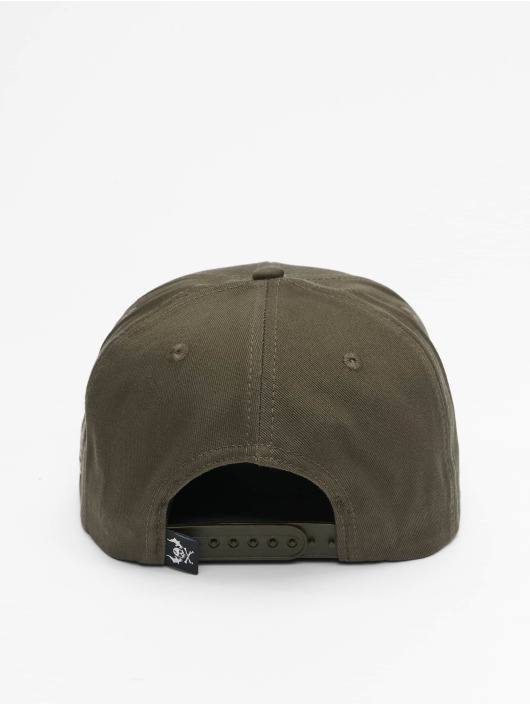 Yakuza Snapback Caps Society oliivi