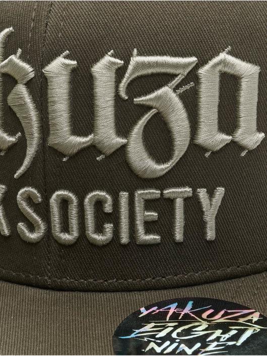 Yakuza Snapback Caps Society oliwkowy