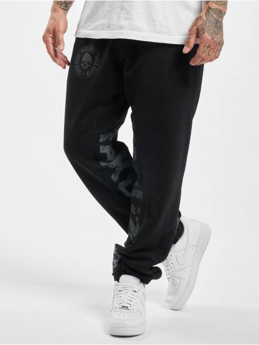 Yakuza Spodnie do joggingu Splash Skull Loose czarny