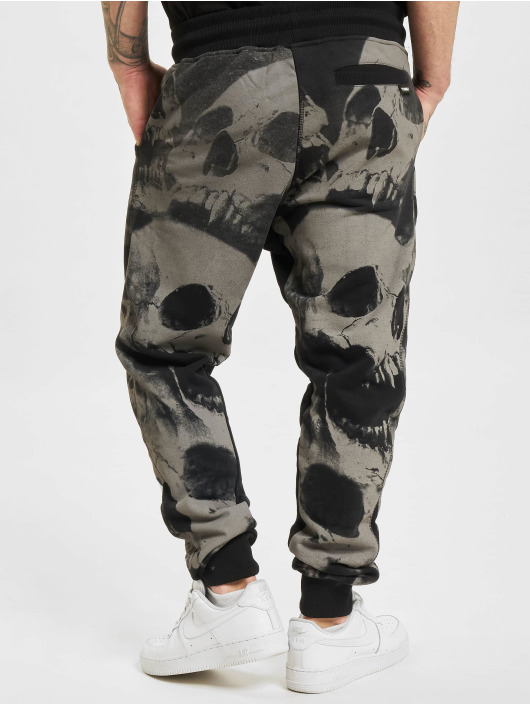 Yakuza Spodnie do joggingu Skull V02 czarny