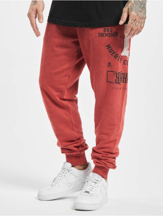 Yakuza Spodnie do joggingu Muerte Logo czerwony