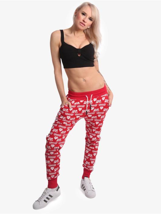 Yakuza Spodnie do joggingu Logo Love czerwony