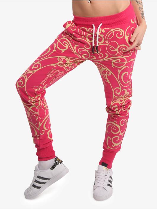 Yakuza Spodnie do joggingu Golden Roots pink