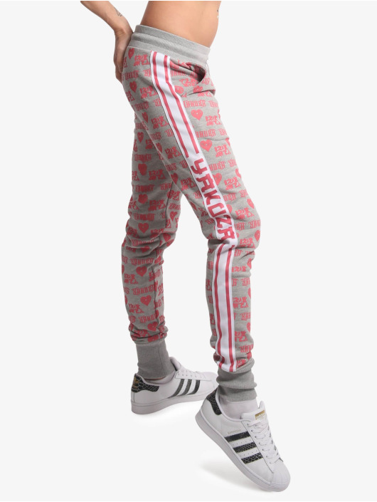 Yakuza Spodnie do joggingu Logo Love szary