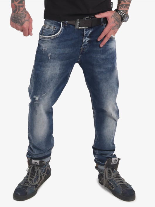 Yakuza Straight Fit Jeans Straight Fit blå