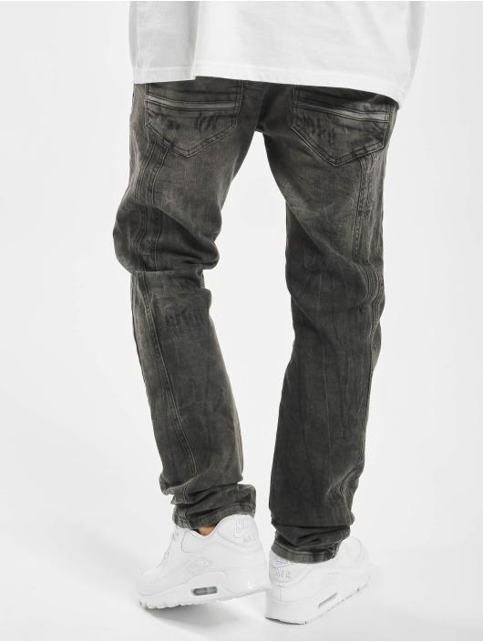 Yakuza Straight Fit Jeans Biker Flap black