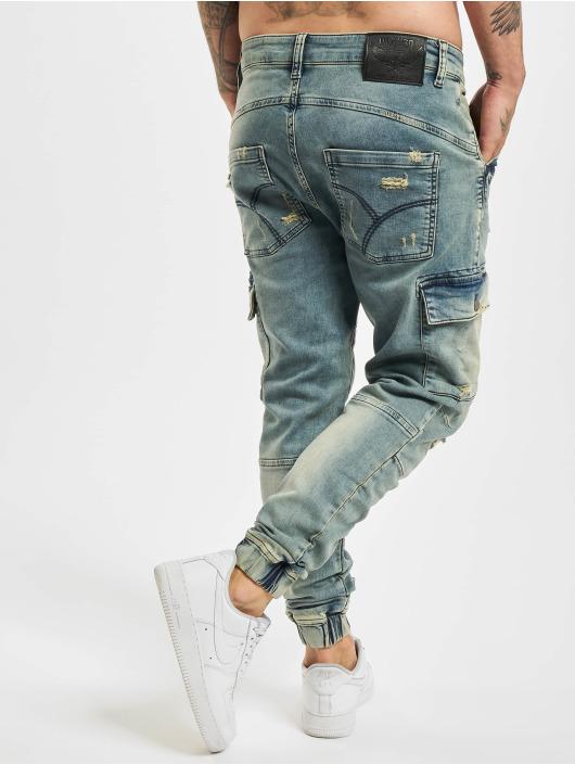 Yakuza Straight Fit Jeans Kokoma Cargo Grip Fit blau