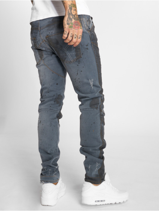 Yakuza Straight fit jeans 893 blauw
