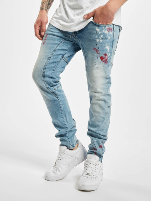 Yakuza Straight fit jeans Shard blauw