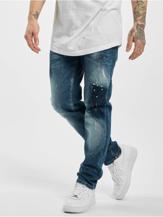 Yakuza Straight Fit Jeans Destroyer blue