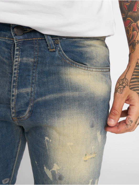 Yakuza Straight Fit Jeans 893 modrý