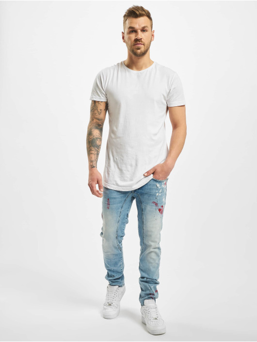 Yakuza Straight Fit Jeans Shard modrý