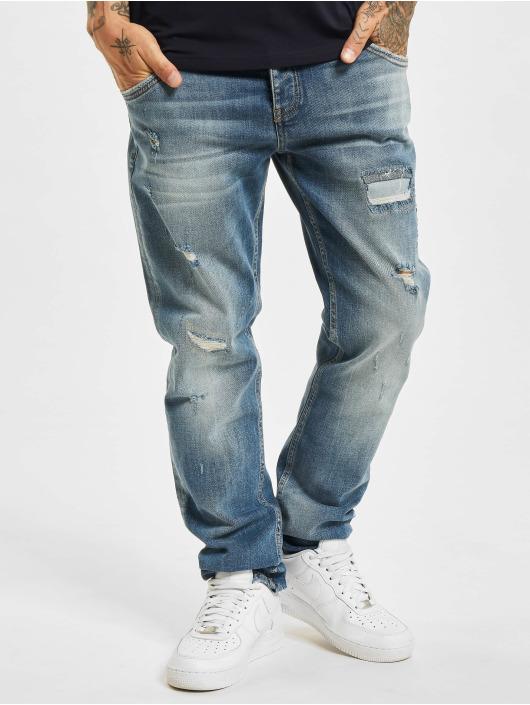 Yakuza Straight Fit Jeans Straight Fit modrý