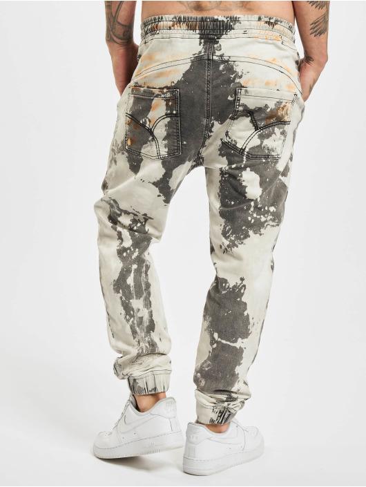 Yakuza Straight Fit Jeans Pescado Jogging weiß