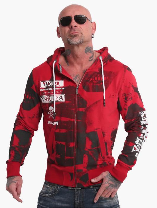Yakuza Sudaderas con cremallera Psycho Clown rojo