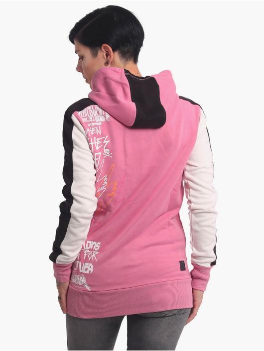 Yakuza Sudaderas con cremallera Revival Two Face Long rosa
