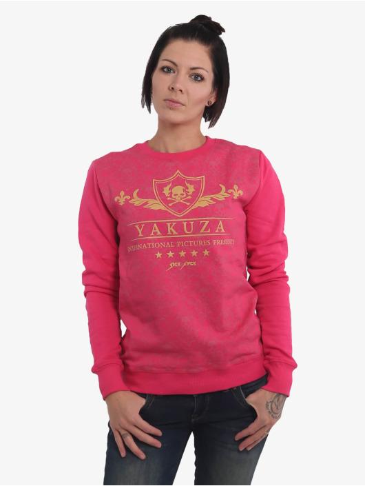 Yakuza Svetry Crests růžový