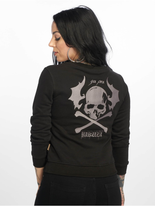 Yakuza Sweat & Pull Flying Skull Cropped noir