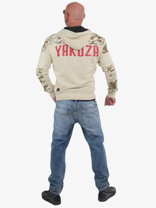 Yakuza Sweat capuche Warning Two Face beige
