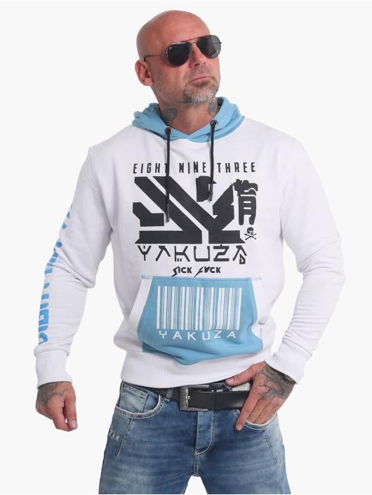 Yakuza Sweat capuche Nippon893 Two Face blanc