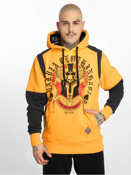 Yakuza Sweat capuche Mexica Two Face jaune