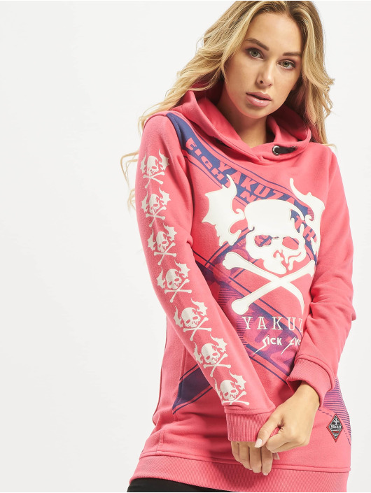 Yakuza Sweat capuche Flying Skull Flex Long magenta