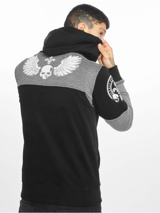 Yakuza Sweat capuche Label Two Face noir