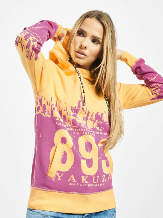 Yakuza Sweat capuche Skyline orange