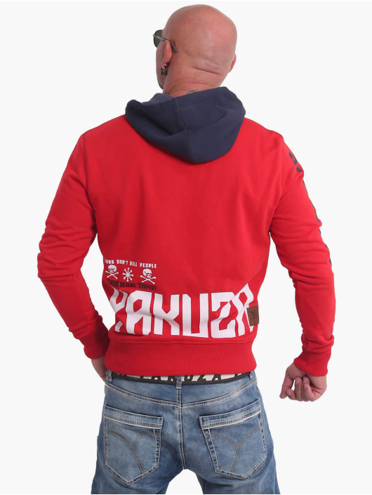 Yakuza Sweat capuche Nippon893 Two Face rouge