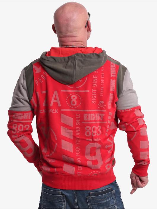 Yakuza Sweat capuche Allover Pattern Tri Face rouge