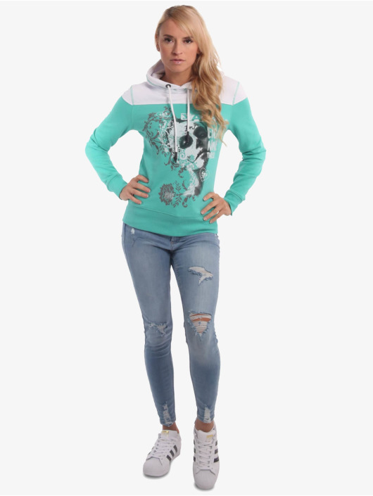 Yakuza Sweat capuche Muerte Romantica Two Face turquoise