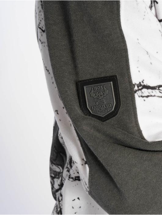 Yakuza Sweat capuche zippé Marble blanc