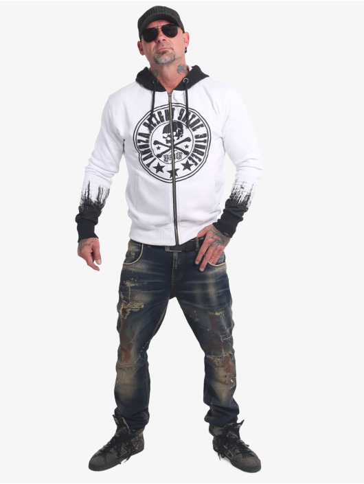 Yakuza Sweat capuche zippé Splatter Sign blanc