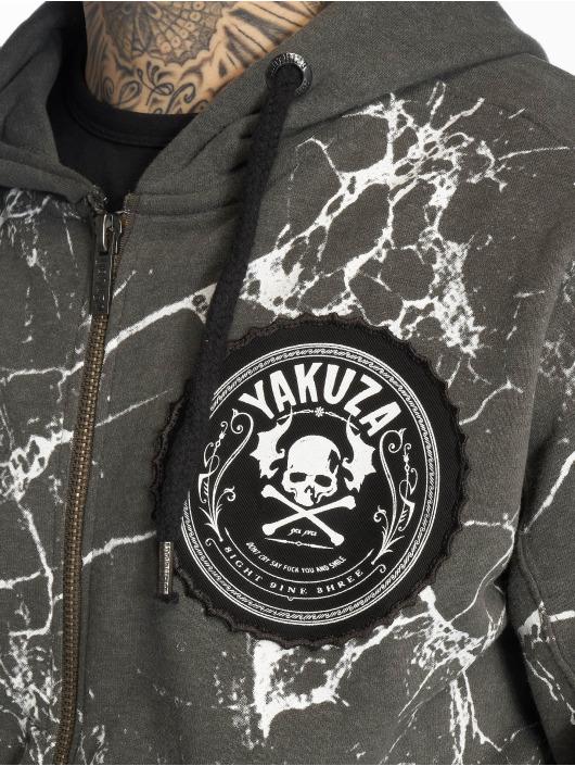 Yakuza Sweat capuche zippé Marble gris