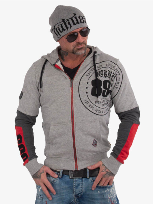 Yakuza Sweat capuche zippé Imperator Two Face gris
