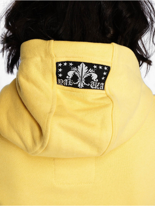 Yakuza Sweat capuche zippé Lil Flying Skull High Neck jaune