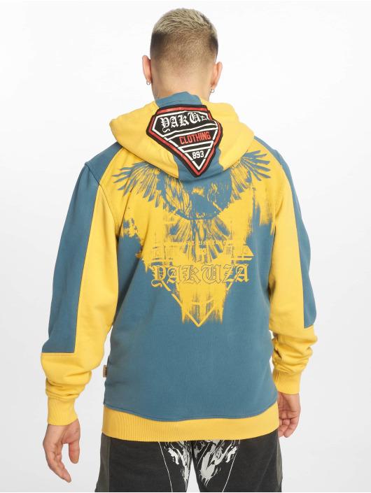 Yakuza Sweat capuche zippé Raven jaune