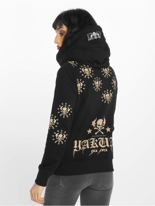 Yakuza Sweat capuche zippé Dot Crosswise noir