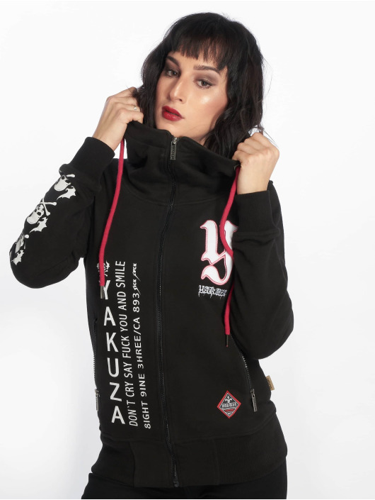 Yakuza Sweat capuche zippé Lil Flying Skull High Neck noir