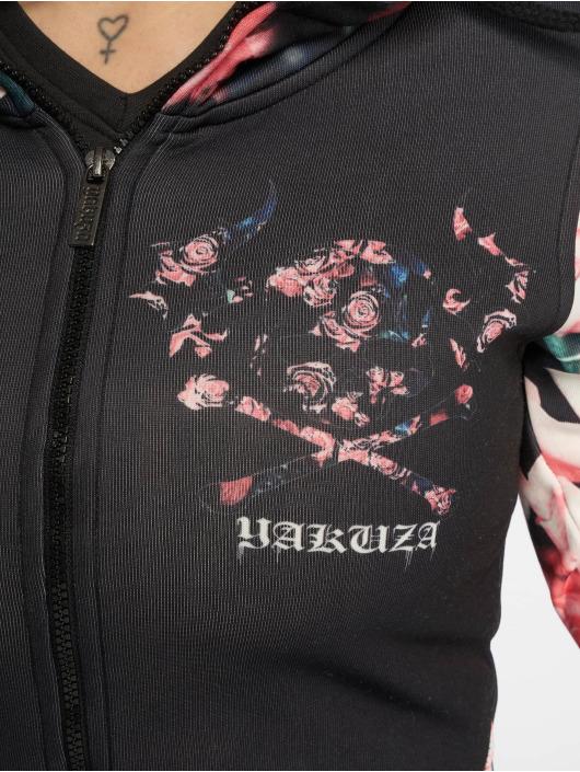 Yakuza Sweat capuche zippé Roses noir