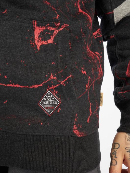 Yakuza Sweat capuche zippé Marble noir
