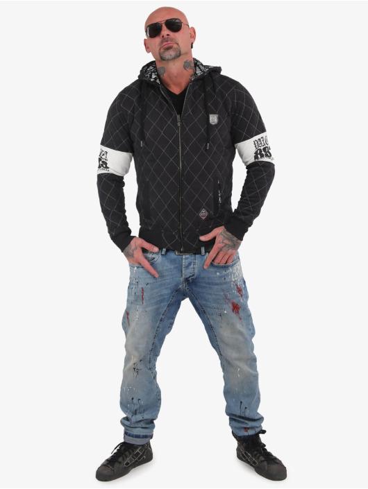 Yakuza Sweat capuche zippé Helmet Quilted noir