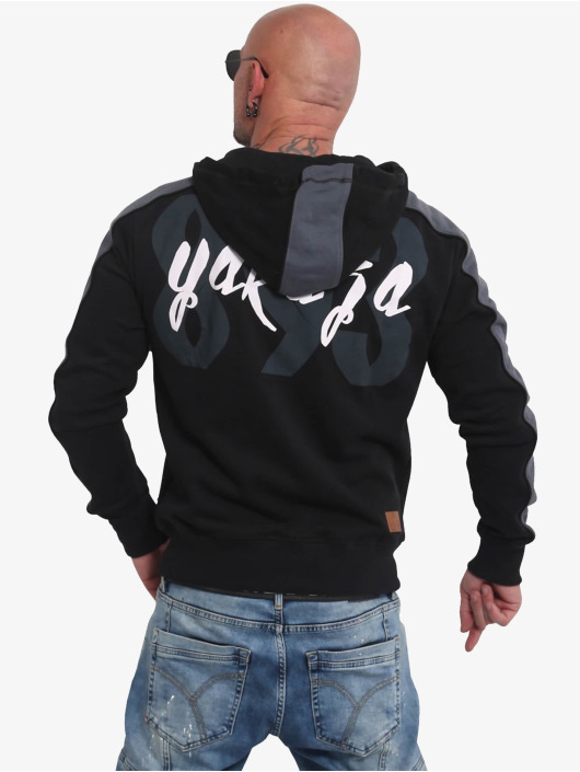 Yakuza Sweat capuche zippé Vintage Two Face noir
