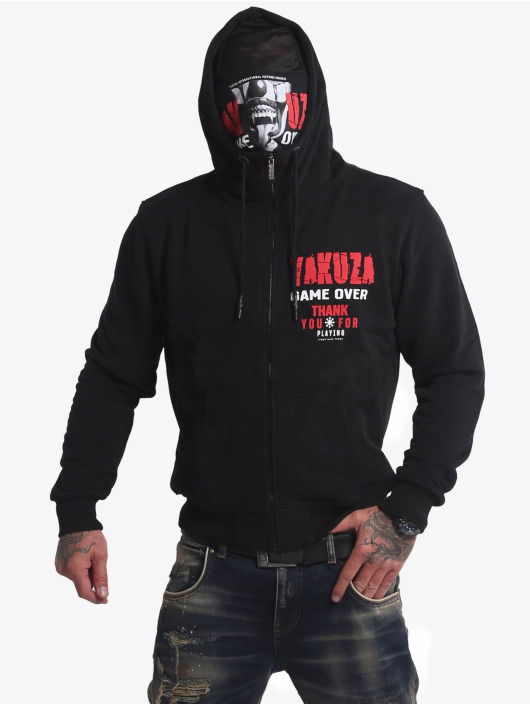 Yakuza Sweat capuche zippé Game Over Ninja noir